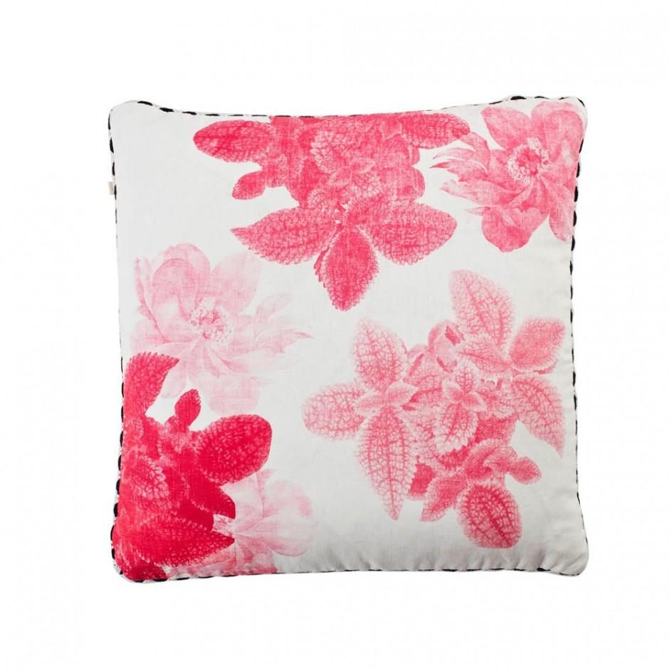 begonia leaf cushion pink