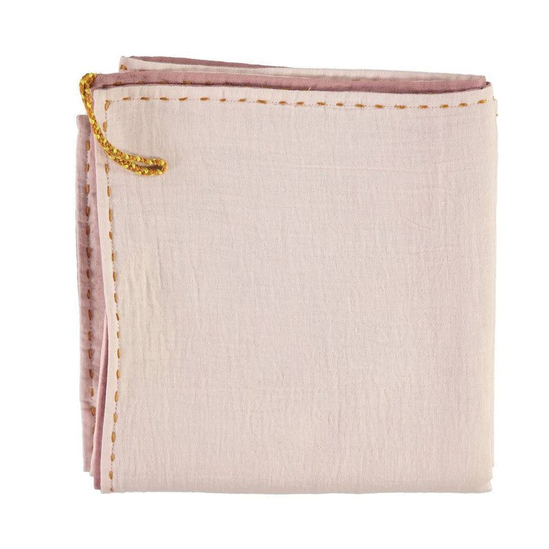 CL | reversible baby swaddle wrap | blush and pink - back