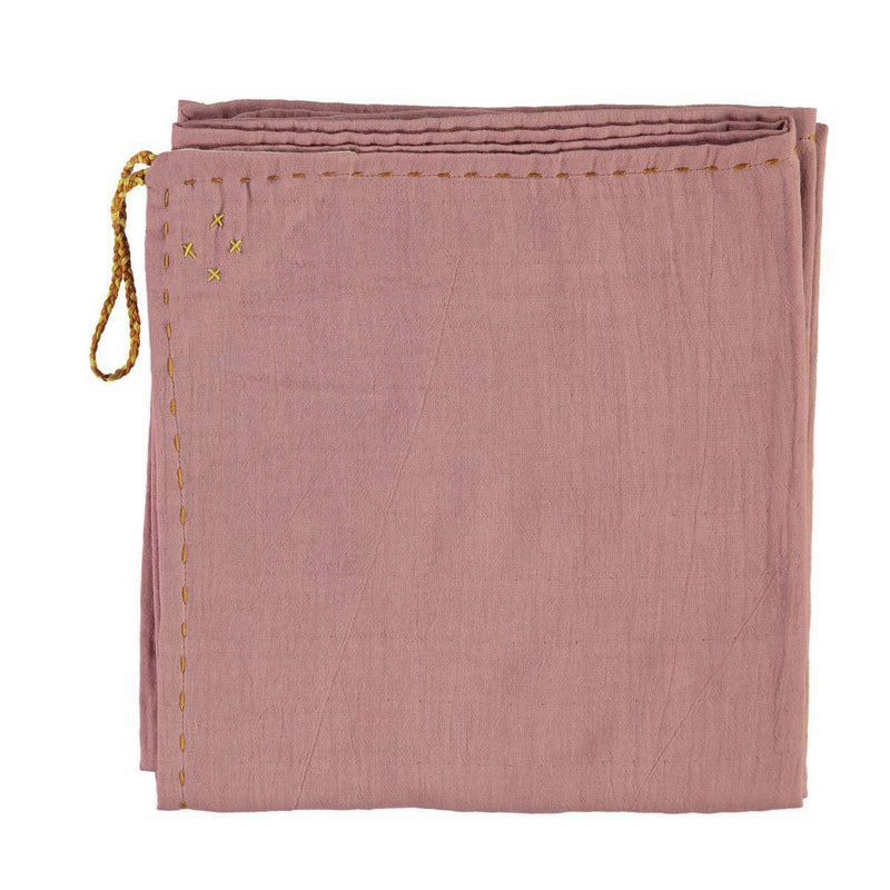 CL | reversible baby swaddle wrap | blush and pink - front