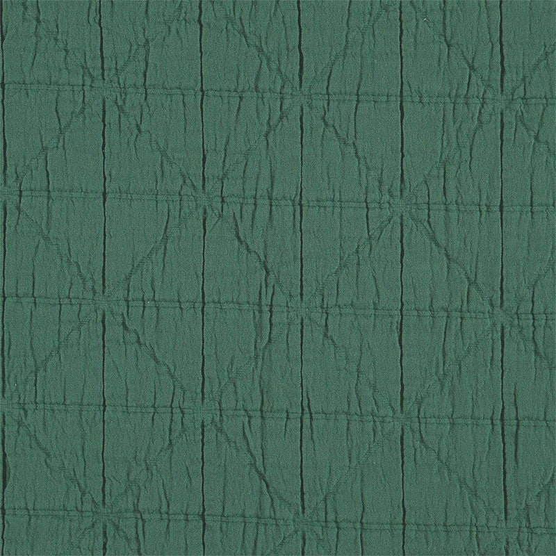 Camomile London | diamond single cotton blanket | green - close