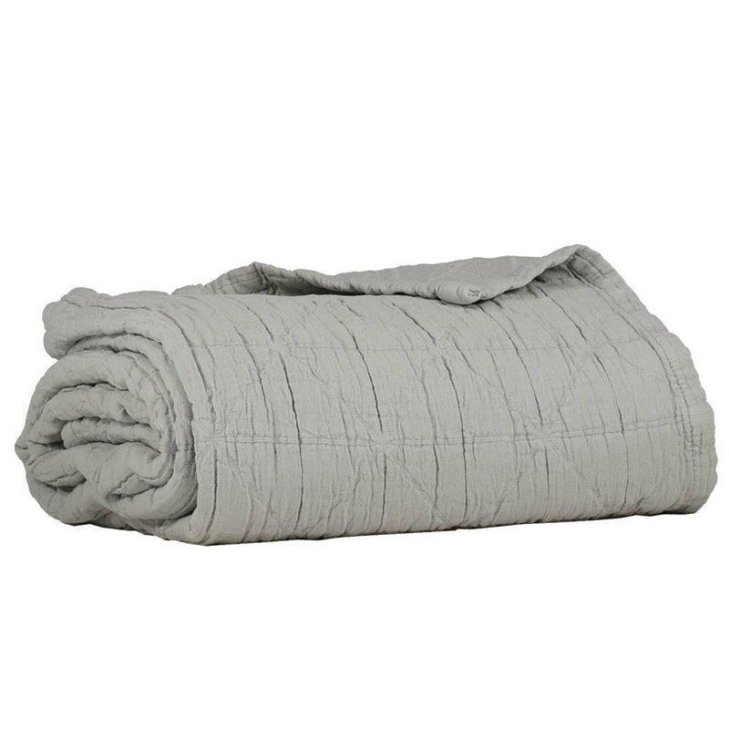 Camomile London | diamond cotton kids blanket | light grey