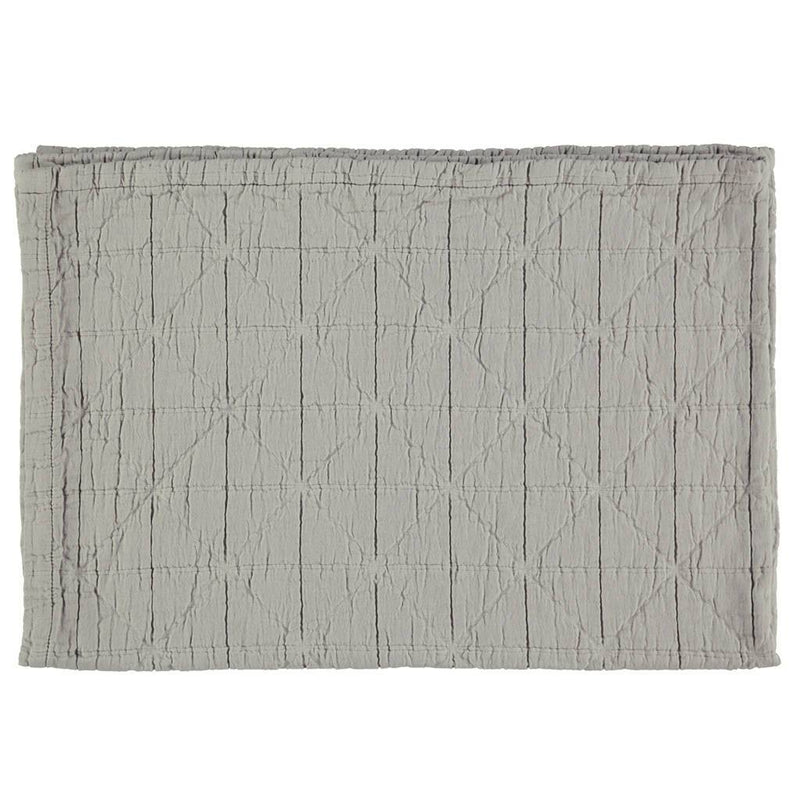 Camomile London | diamond cotton kids blanket | light grey - front