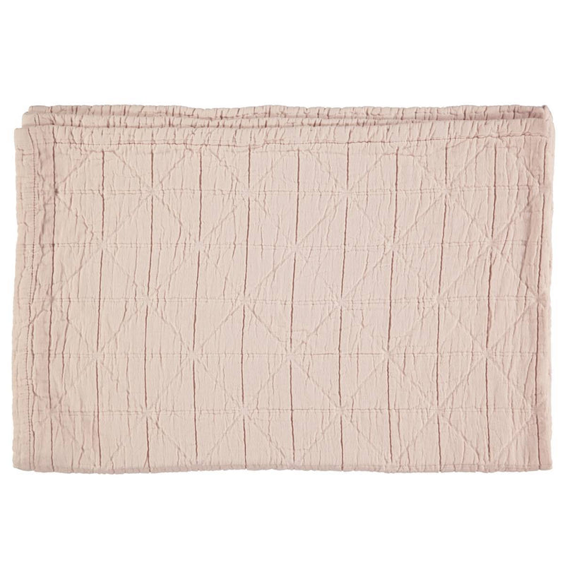 Camomile London | diamond cotton kids blanket | pearl pink - front