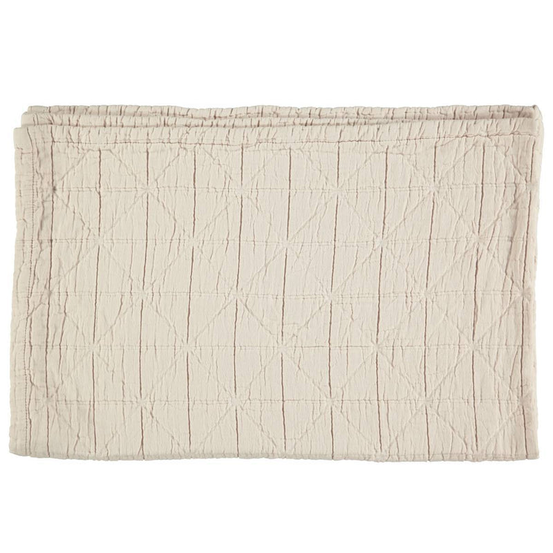 Camomile London | diamond single cotton blanket | natural - front