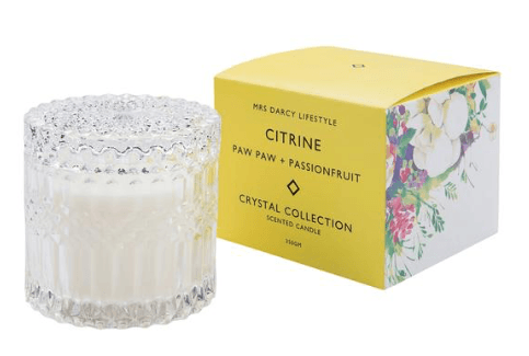 Mrs Darcy crystal collection candle (Citrine)-candle-Mrs Darcy-mondocherry