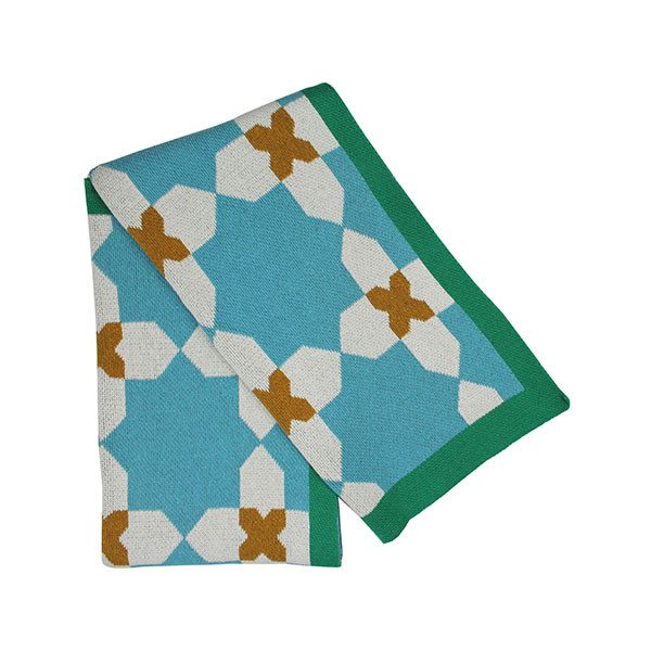 Happy Habitat cordoba throw (gold and turquoise) - decorative - mondocherry - home : style : design - 1