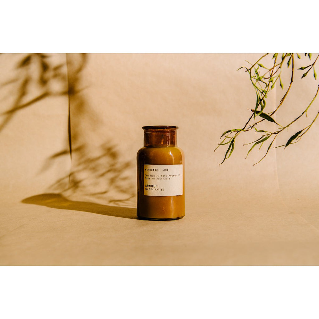 Etikette soy candle | arnhem golden wattle | 250ml