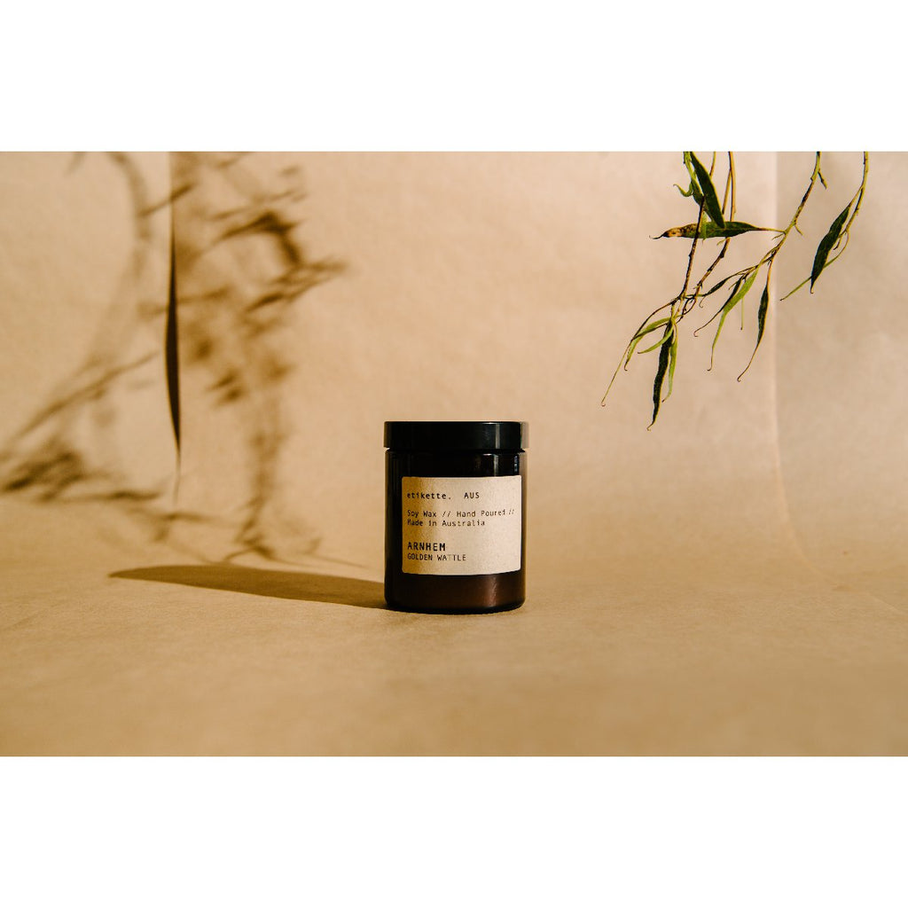 Etikette soy candle | arnhem golden wattle | 175ml