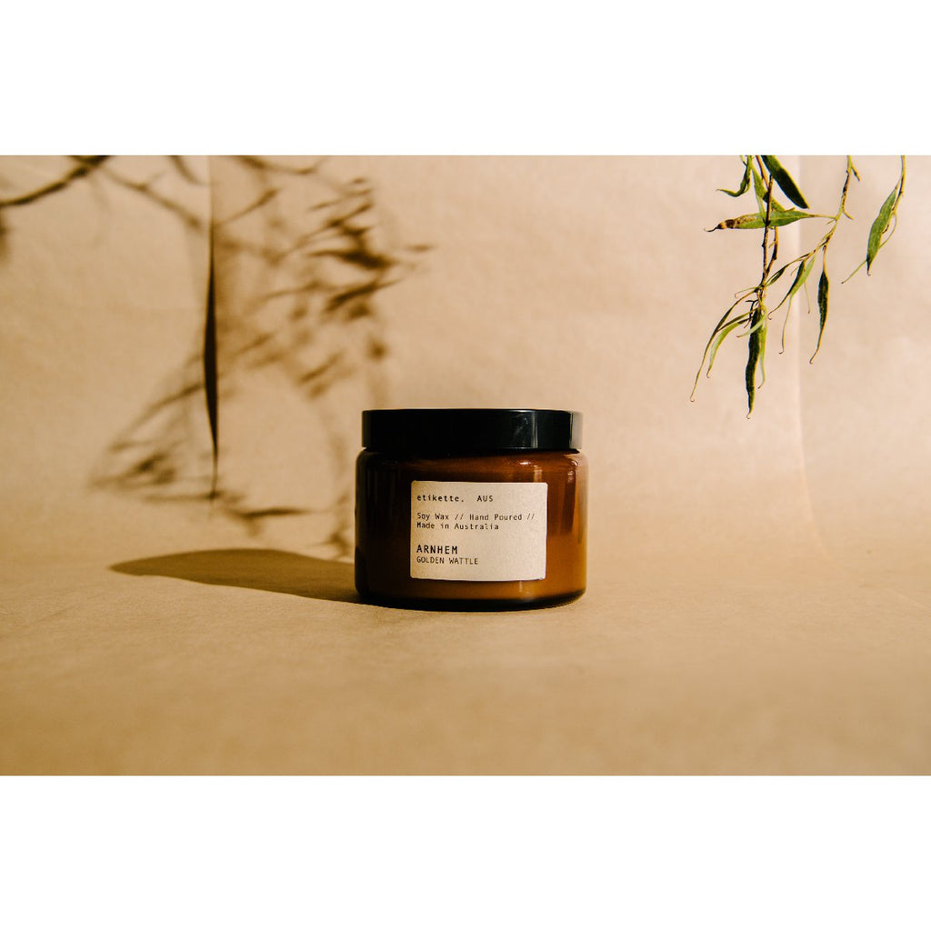 Etikette soy candle | arnhem golden wattle | 500ml