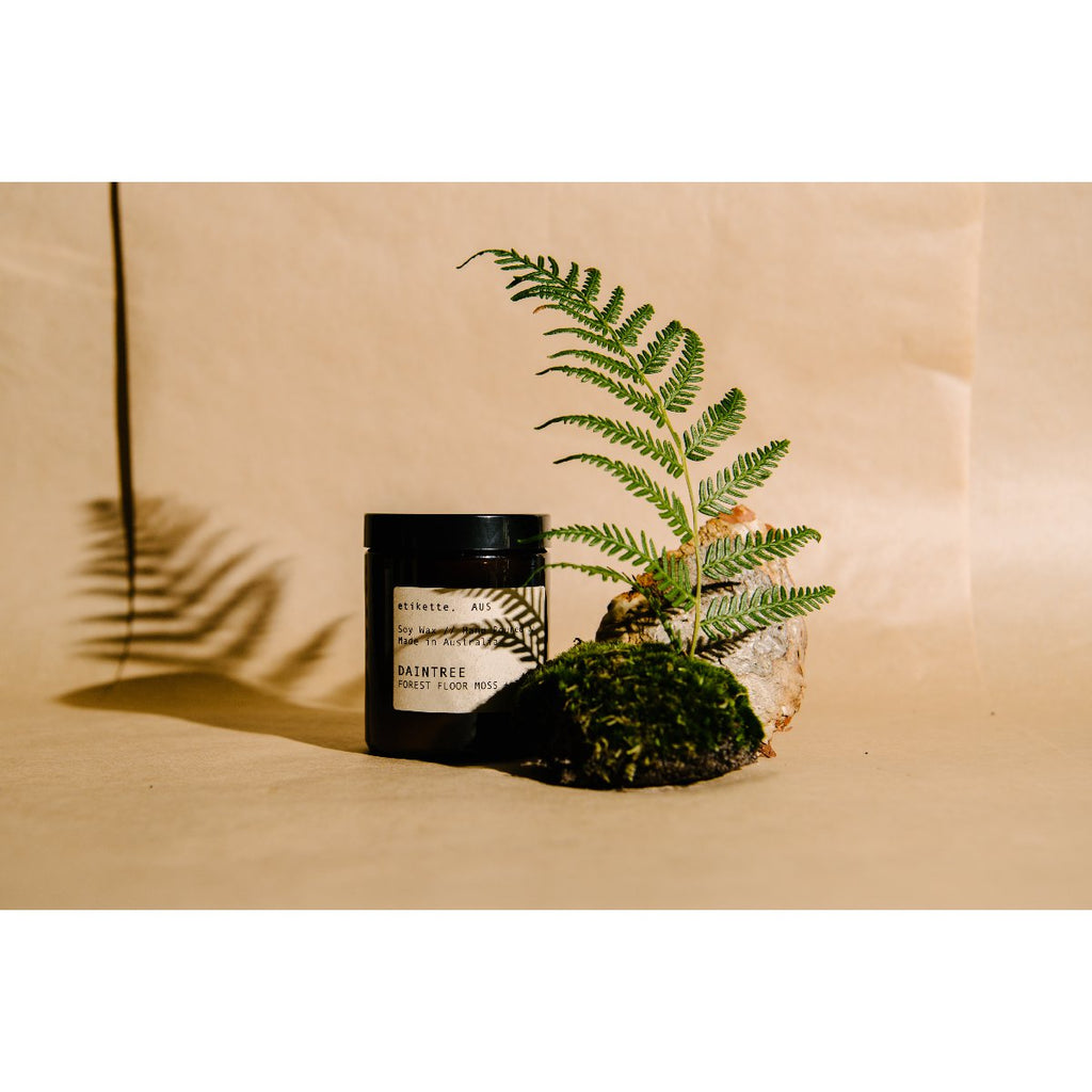 Etikette soy candle | daintree forest floor moss & teak | 175ml