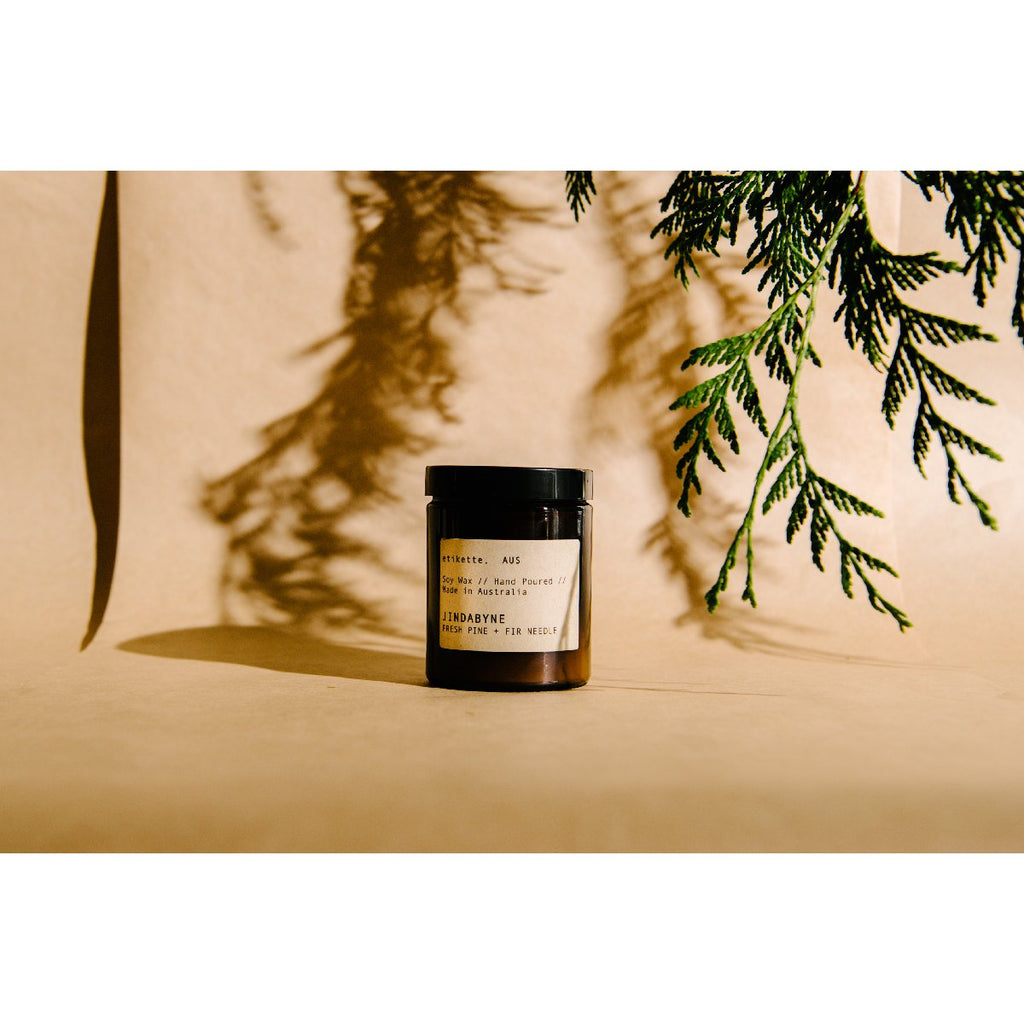 Etikette soy candle | jindabyne fresh fir & pine needle | 175ml