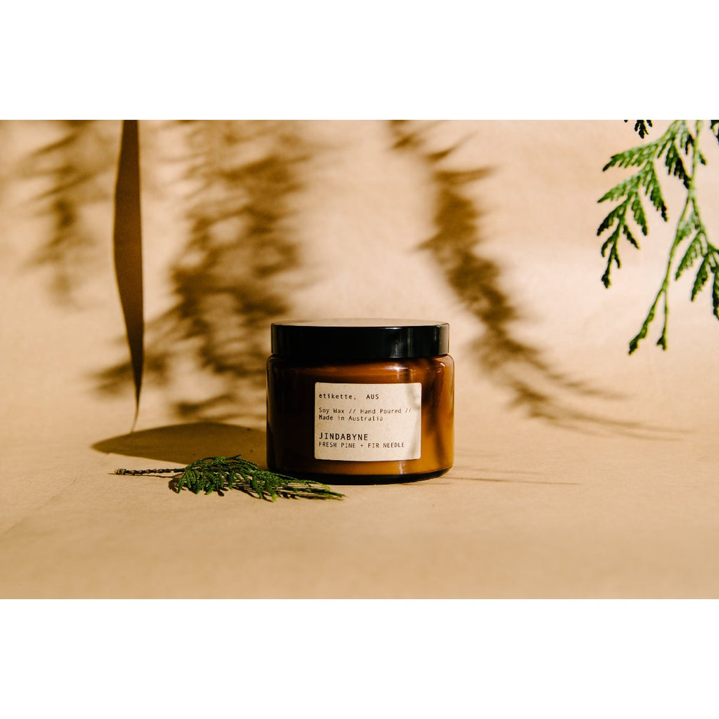 Etikette soy candle | jindabyne fresh fir & pine needle | 500ml