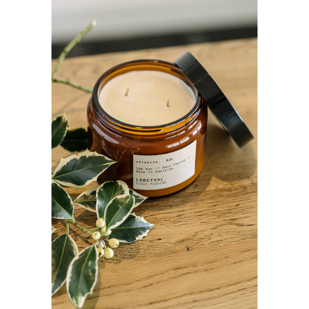 Etikette soy candle | lobethal figgy pudding | 500ml