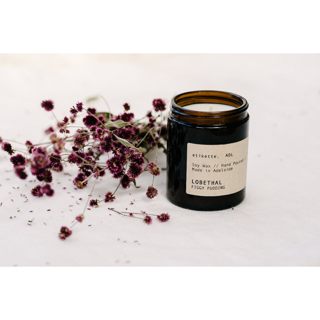 Etikette soy candle | lobethal figgy pudding | 175ml