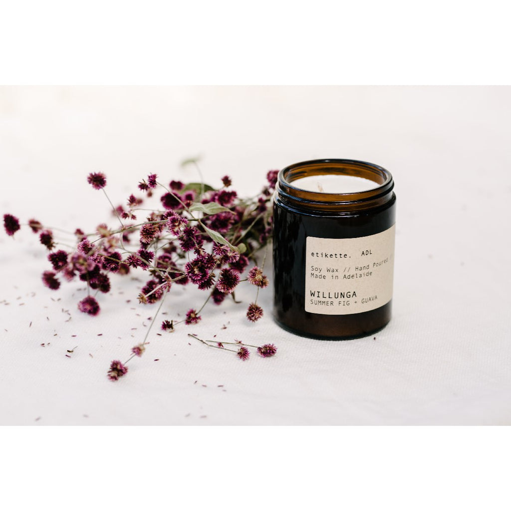 Etikette soy candle | willunga fig & guava | 175ml