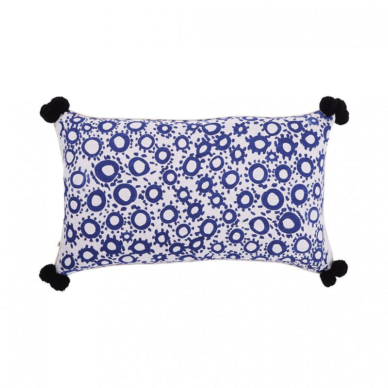 Bonnie and Neil cushions - tea rose blue - back