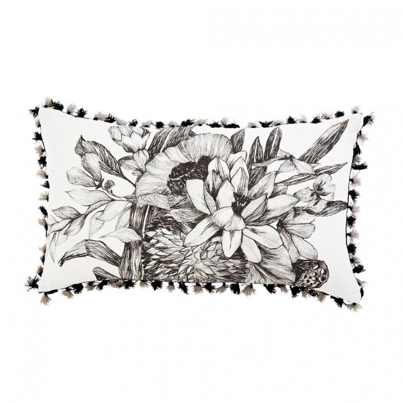 Bonnie and Neil cushion - lotus grey - front