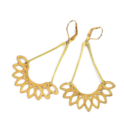 Meli gold earrings