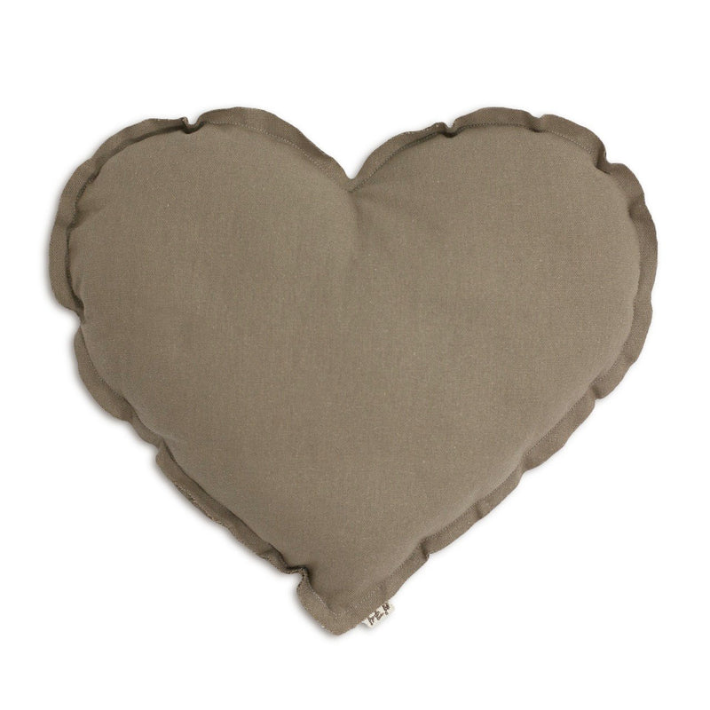 mondocherry homewares - Numero74 heart cushion thai cotton medium (beige)