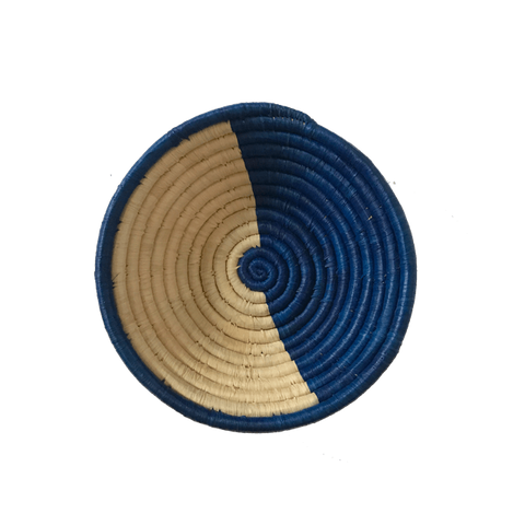 Gemi woven bowl small blue