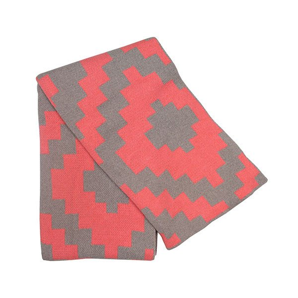 Happy Habitat izmir throw (coral) - decorative - mondocherry - home : style : design - 1
