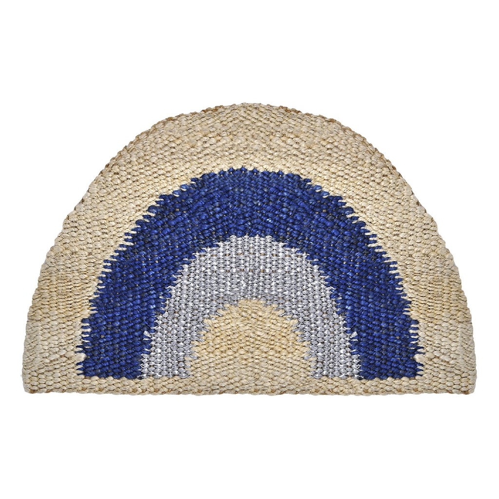 "Langdon | ""Aquarius #1"" handwoven doormat"