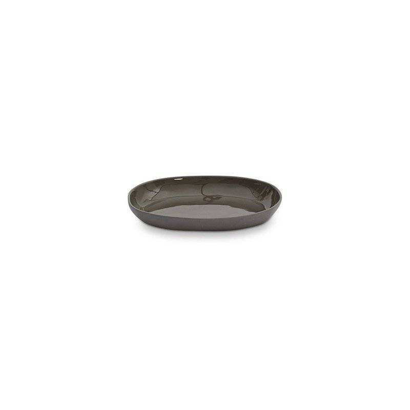 servingware - Marmoset Found | cloud oval plate | charcoal | small - mondocherry
