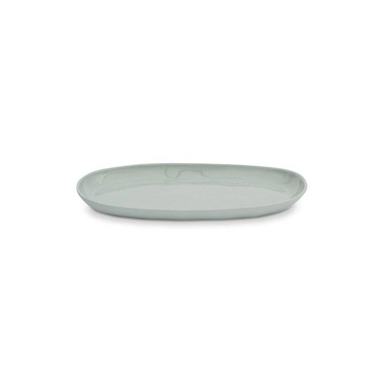 Marmoset Found ceramic cloud oval plate - light blue