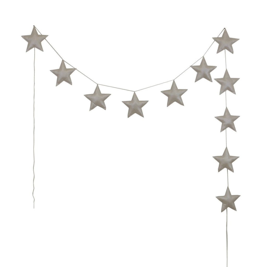 Numero74 mini star garland (cream)-felt and garlands-numero74-mondocherry