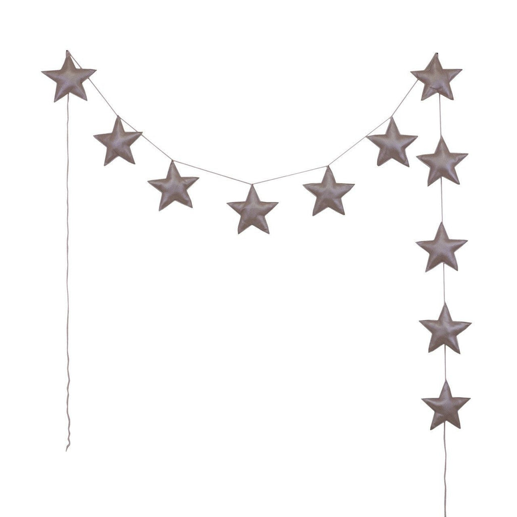 Numero74 mini star garland | dusty pink-felt and garlands-numero74-mondocherry
