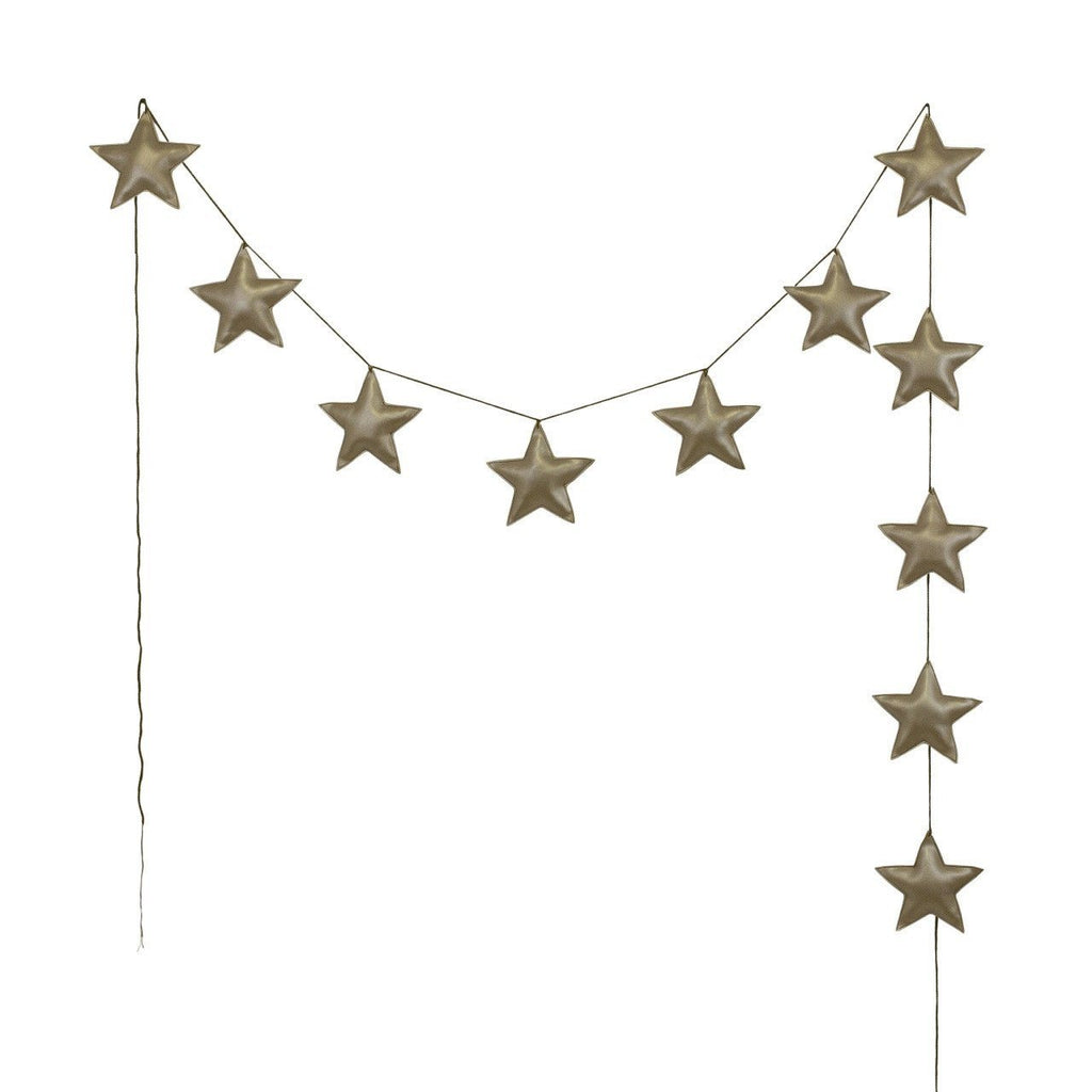 Numero74 mini star garland (gold)-felt and garlands-numero74-mondocherry