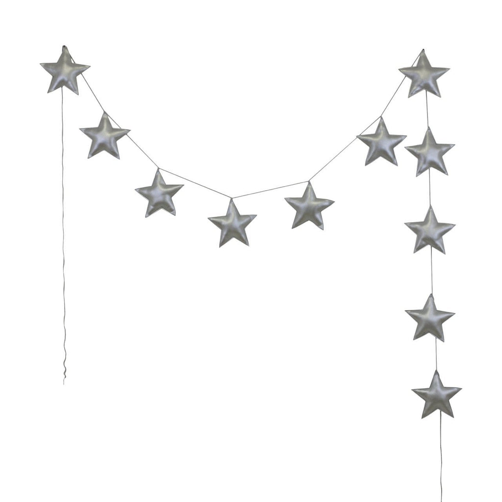 garland - Numero74 | mini star garland | silver - mondocherry
