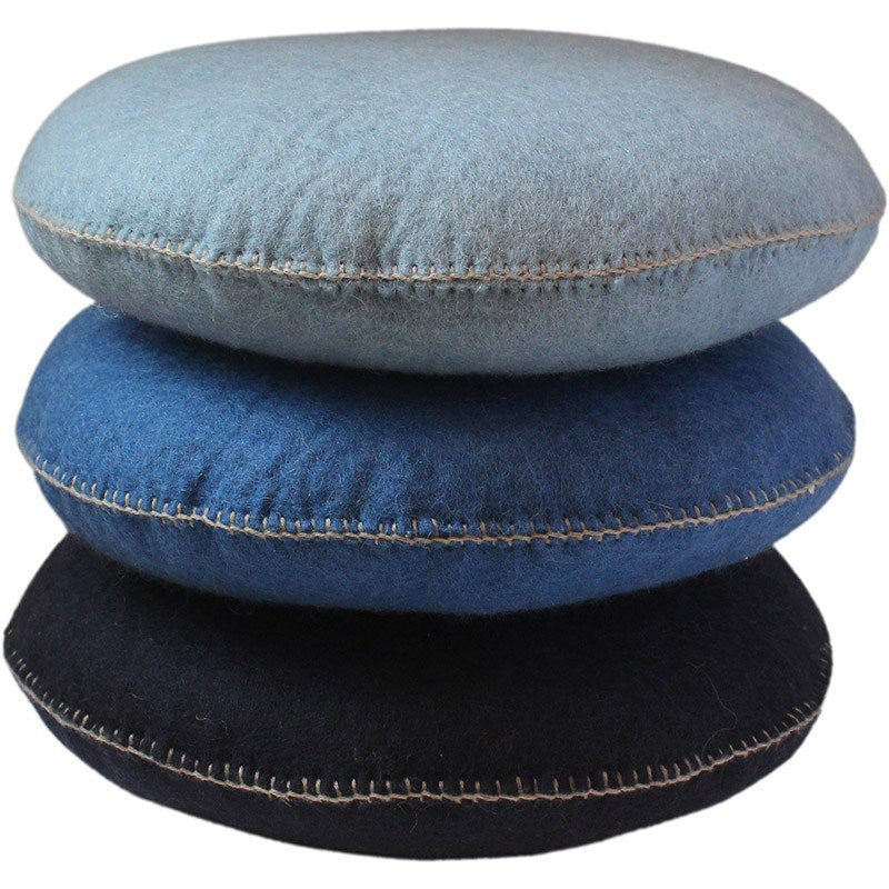 mondocherry homewares - Muskhane - smartie cushion large - bleu n'14 - stack