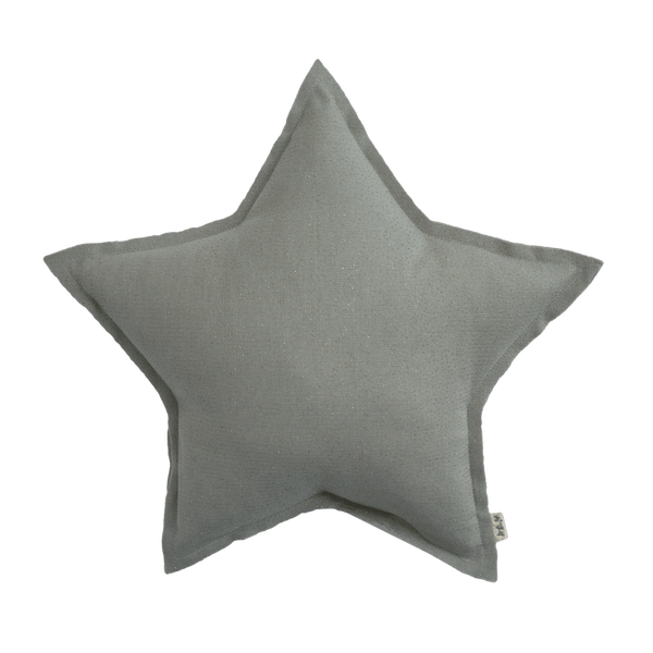 Numero74 sparkling tulle/cotton star cushion (silver grey) - cushion - mondocherry - home : style : design