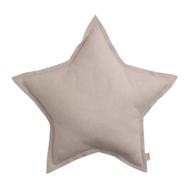 Numero74 sparkling tulle/cotton star cushion (powder)-cushion-numero74-mondocherry