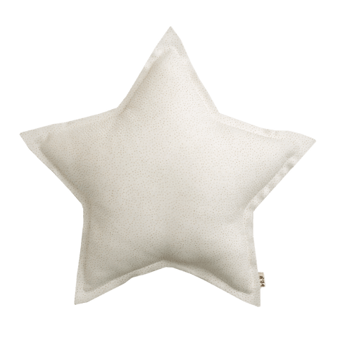 Numero74 sparkling tulle/cotton star cushion small (silver grey)