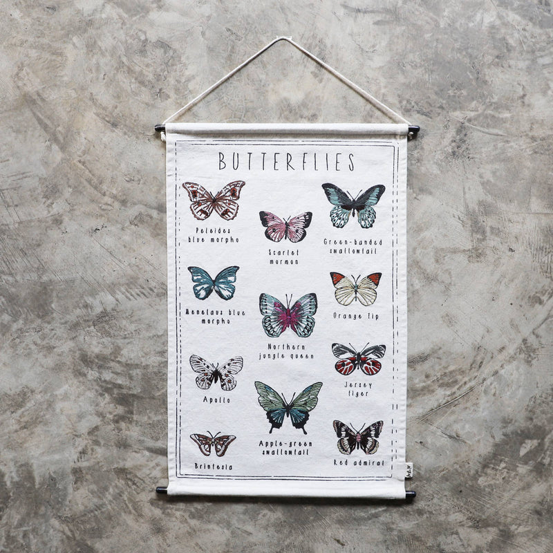Numero74 | kids embroidery kit | butterflies - completed