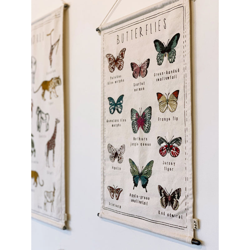 Numero74 | kids embroidery kit | butterflies - wall