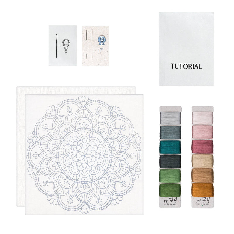 Numero74 | hoop embroidery kit | rose mandala