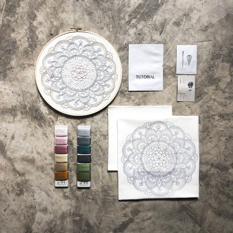 Numero74 | hoop embroidery kit | calm mandala - layout