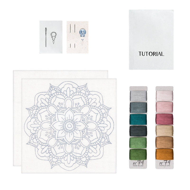 Numero74 | hoop embroidery kit | calm mandala