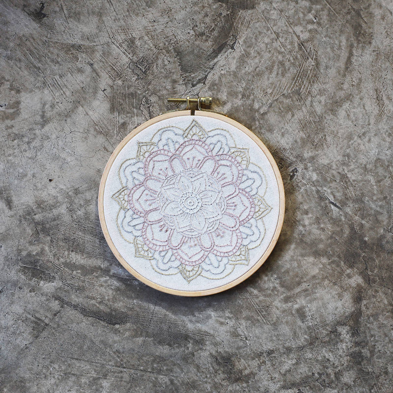 Numero74 | hoop embroidery kit | nature mandala - complete