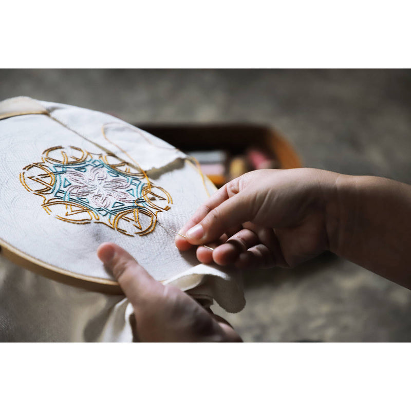 Numero74 | hoop embroidery kit | working