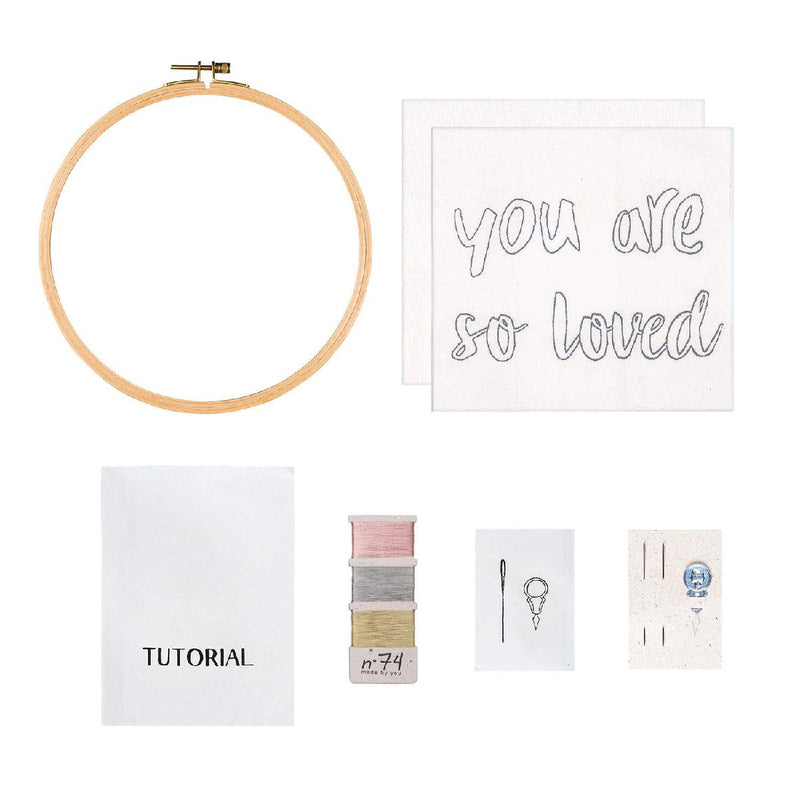 Numero74 | hoop embroidery kit | you are so loved