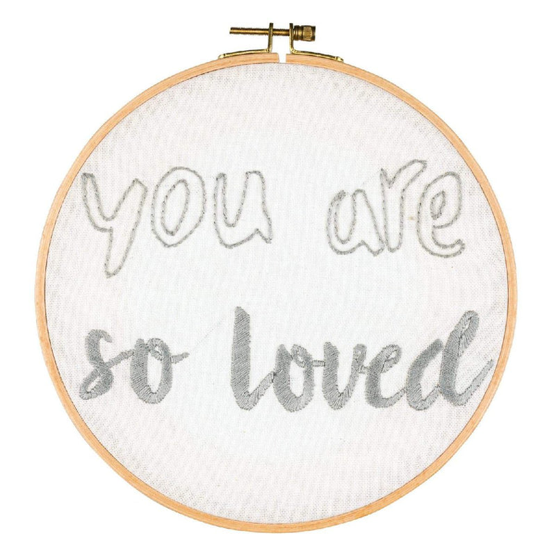 Numero74 | hoop embroidery kit | you are so loved - in progress