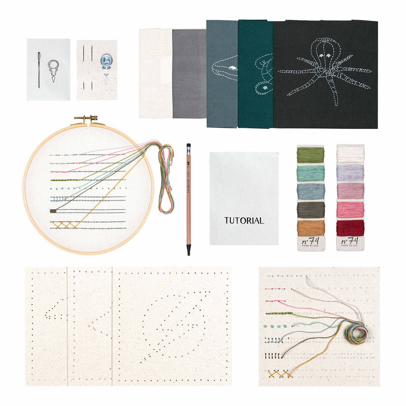 Numero74 | kids embroidery kit | sky