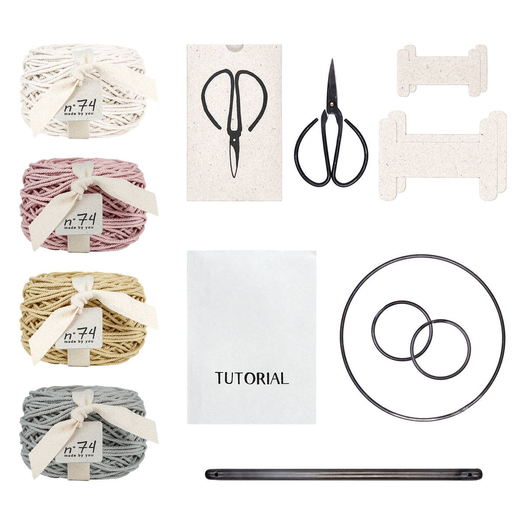 Numero74 | macrame freedom kit | whisper mix