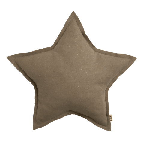 Numero74 sparkling tulle/cotton star cushion (beige)-cushion-numero74-mondocherry