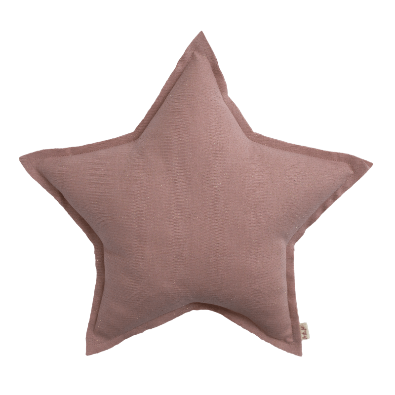Numero74 sparkling tulle/cotton star cushion (dusty pink) - cushion - mondocherry - home : style : design - 1