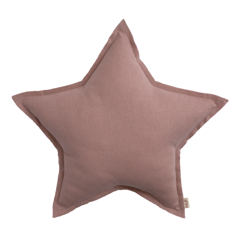 Numero74 sparkling tulle/cotton star cushion | dusty pink-cushion-numero74-mondocherry